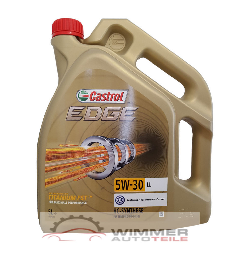 1x 5 liter castrol edge fst 5w 30 motor l vw 504 00 507. Black Bedroom Furniture Sets. Home Design Ideas
