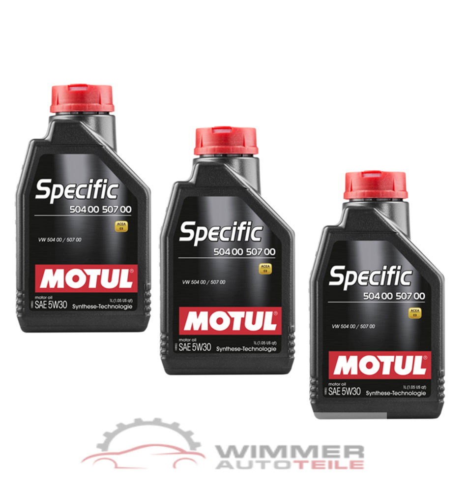 3x 1 liter motul specific 504 00 507 00 motor l 5w30 l. Black Bedroom Furniture Sets. Home Design Ideas