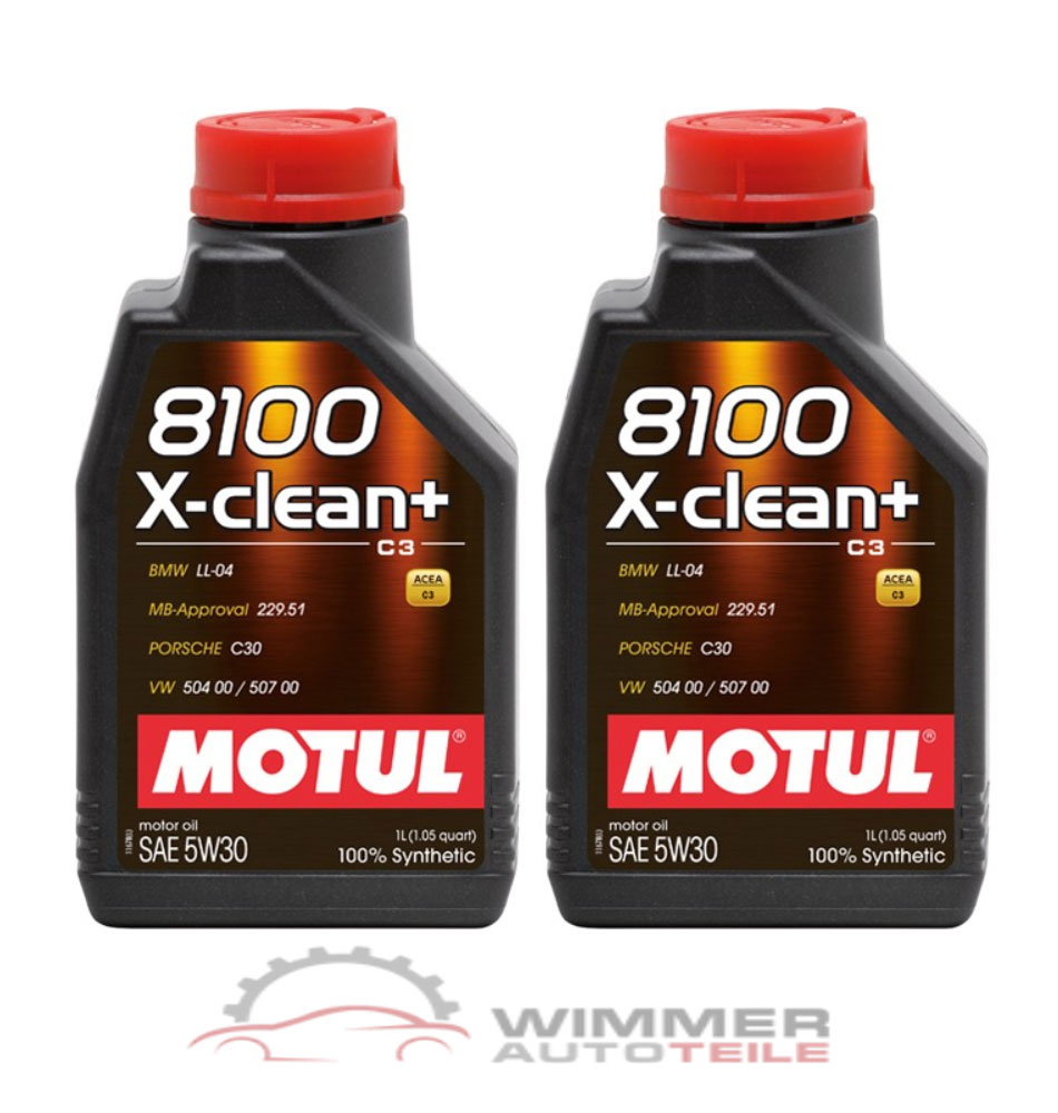 2x 1 liter motul 8100 x clean motor l 5w30 longlife l. Black Bedroom Furniture Sets. Home Design Ideas